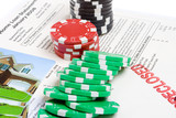 Bet the House Poker Chips Foreclosed Mortgage poster