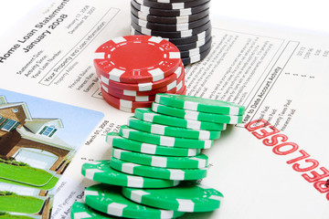 Bet the House Poker Chips Foreclosed Mortgage