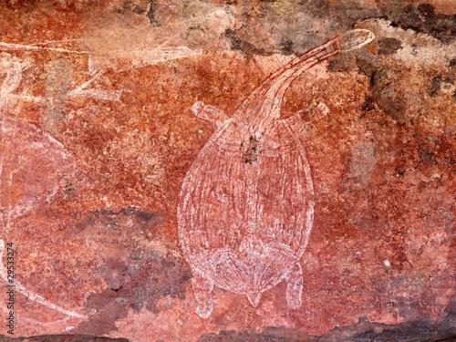 Foto op Plexiglas Schildpad Aboriginal rock art, Ubirr, Kakadu N/P, Australia