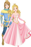 Fototapety Beautiful prince and princess