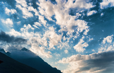 Dramatic sky, italian Alps