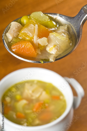 Spoonful of  Homemade Chicken Soup