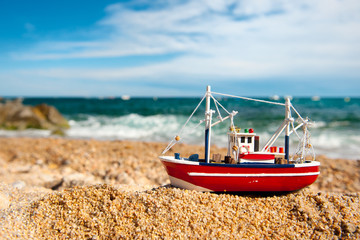 Fishing boat at the beach