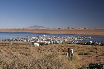 Homes on the Water, Powell Lake, Arizona