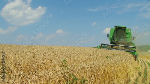 Combine Harvesting Wheat 03