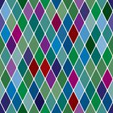Harlequine Esmerald seamless pattern poster