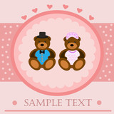 Valentine bears greeting card