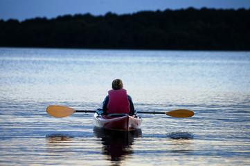 Evening Kayaker