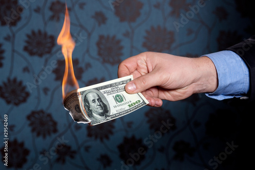 Fire burn one hundred dollars