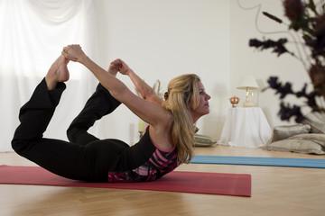 Lovely Yoga Bow Pose
