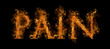 Flaming Pain Text