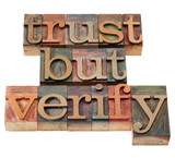 trust but verify phrase poster