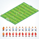 Soccer Tactics Field - vector elements separated