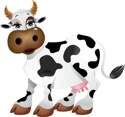 Mucca Cartoon-Cartoon Cow-Vector