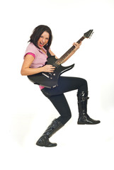 Rock female with guitar