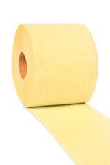 Yellow toilet paper