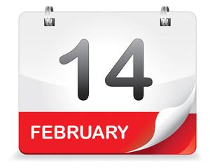 Kalender rot 14 February