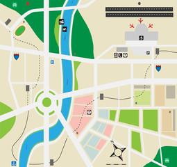 City map vector art