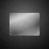 Metallic plaque for signage. Vector illustration poster
