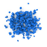 lego blue poster