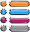 Vector rounded buttons on white.