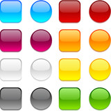 Vector color buttons on white.