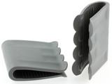 maniques anti-chaleur en silicone pour marmites chaudes poster