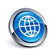 icône bouton internet monde planète