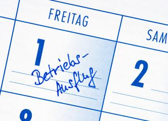 Betriebsausflug - Termin Kalender