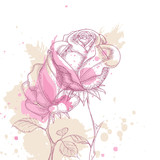 Fototapety Grunge floral background