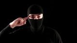 ninja cramps fool on black background poster