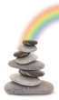 zen regenbogen steine