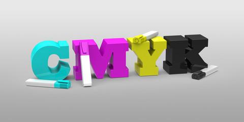 CMYK-Textmarker
