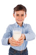 Boy with a glass of milk