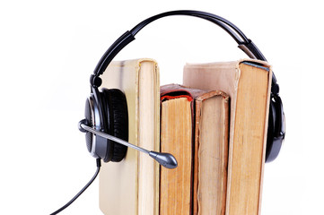 books in headsets