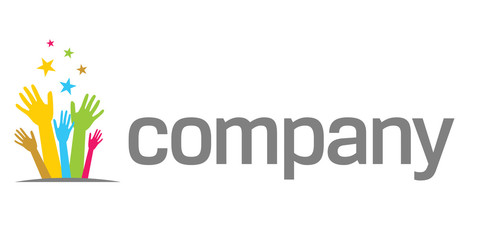 Holding hands logo for nonprofit company