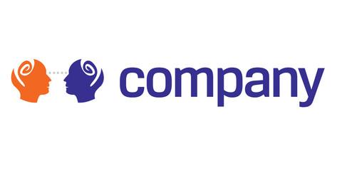 Human head logo for charity organization