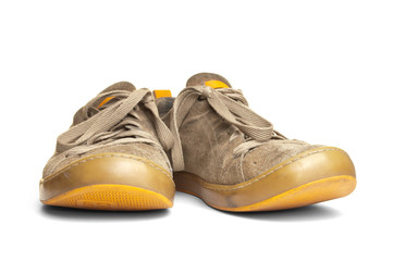 Worn out shoes