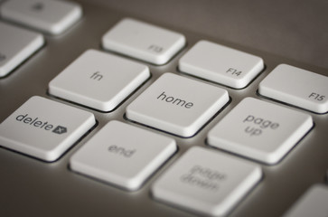Close up on home key on keyboard