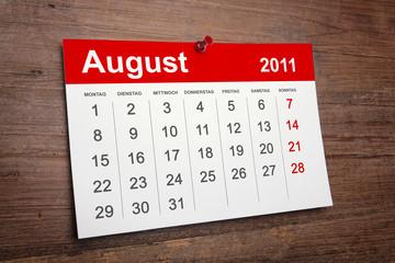 Kalender August 2011