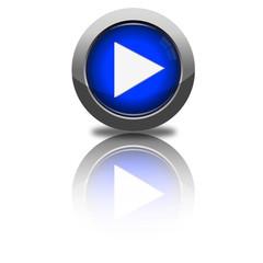 Button vorwärts dunkelblau rund