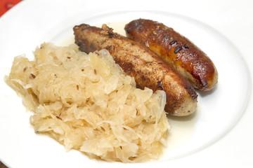 bratwürste mit sauerkraut