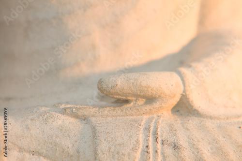 Leinwandbild Motiv Buddha  Hand Gebetshaltung