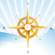 Blue sky compass design