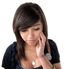 Sad Hispanic Girl