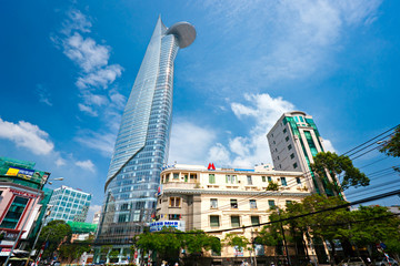 HO CHI MINH CITY - DECEMBER 18: Thre Bitexco Financial Tower is