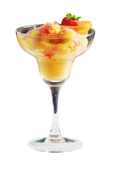 Ice-cream with orange, strawberry and lemon crumb. Powerclip