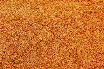 orange terrycloth