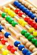 Education concept - Abacus with many colorful beads