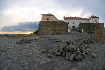 the ruins of an ancient fortress